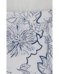 Blumarine Floral Embroidered Dress - Lyst