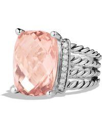 David Yurman Wheaton Ring With Morganite And Diamonds
