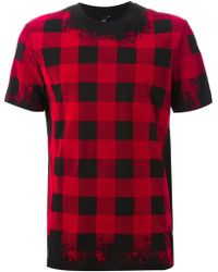McQ by Alexander McQueen Checked T-shirt - Lyst