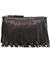 Prada Top-zip Fringe Clutch Bag - Lyst