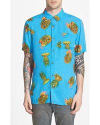 Vans 'Vista' Short Sleeve Woven Shirt blue - Lyst