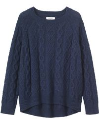 Toast - Cable Knit Wool-blend Jumper - Lyst