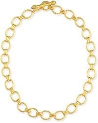 Elizabeth Locke - Rimini Gold 19k Link Necklace With Ruby - Lyst