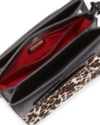 Christian Louboutin Mini Passage Calf Hair Crossbody Bag Leopard - Lyst