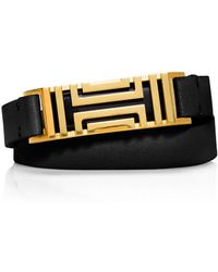 Tory Burch For Fitbit Fret Double-Wrap Bracelet - Lyst