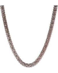 Anne Klein - Rose Goldtone And Crystal Necklace - Lyst
