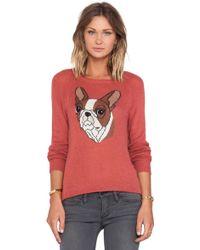 Wildfox Bulldog Pullover - Lyst