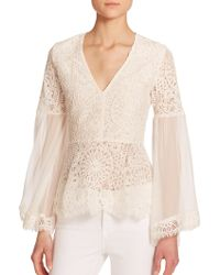 Alexis Vitor Lace Peasant Blouse - Lyst