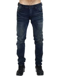 Diesel Jeans Tepphar Skinny Carrot Used Denim With Breaks And Whiskering - Lyst