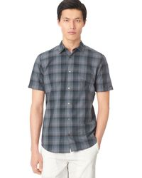 Calvin Klein Ombre Checked Shirt - Lyst