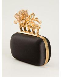 Alexander McQueen Knucklebox Flower Clutch - Lyst