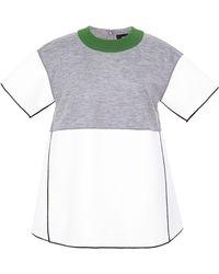 Derek Lam Patchwork Bonded Crepe Shirt - Lyst
