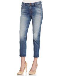 J Brand Ellis Rival Cropped Denim Jeans - Lyst