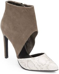 Steve Madden Vyceroy Colorblock Cutout Mixed-media Pumps - Lyst