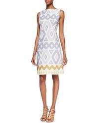 Lafayette 148 New York Janeca Sleeveless Printed Dress - Lyst