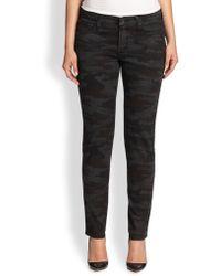 James Jeans Printed Skinny Jeans black - Lyst
