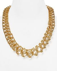 Cara Accessories Rachel 3d Chain Necklace 22 gold - Lyst