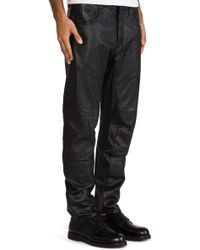 G-star Raw A Crotch Leather Tapered Pant - Lyst
