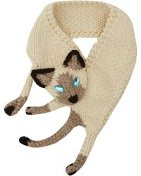 Eugenia Kim Beige Kitty Knitted Collar - Lyst