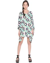 Yvonne S Floral Printed Cotton Jersey Dress - Lyst