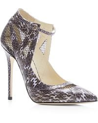Brian Atwood Ingrid Snakeskin Pumps - Lyst