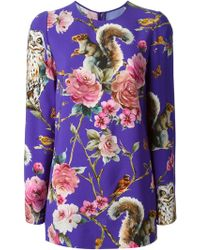 Dolce & Gabbana Enchanted Forest Top - Lyst