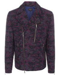 Paul Smith Purple 'Pixelated Camo' Print Biker Jacket purple - Lyst