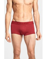 Calvin Klein Low Rise Trunks red - Lyst