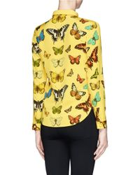Chictopia - Butterfly Print Shirt - Lyst