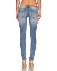 Blank - Skinny Low-Rise Stretch-Denim Jeans - Lyst