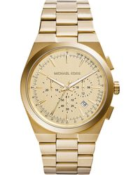 Michael Kors Men'S Chronograph Channing Gold-Tone Stainless Steel Bracelet Watch 43Mm Mk8404 - Lyst