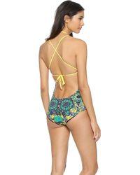 M Missoni - Mosaic Swimsuit - Aqua - Lyst