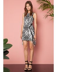 Torn By Ronny Kobo Nara Fringe Dress black - Lyst