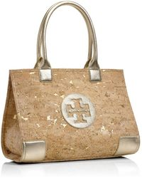 Tory Burch Ella Cork Mini Tote - Lyst