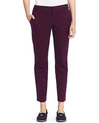 Tommy Hilfiger Printed Stretch Ankle Pant - Lyst