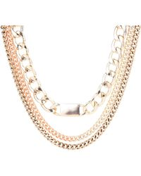 Jane Norman Chunky Chain Tag Necklace - Lyst