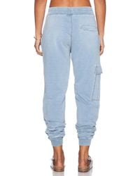 Blank - Pocket-Detail Stretch-Cotton Sweatpants - Lyst