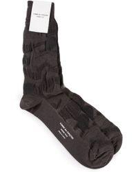 Comme Des Garçons Black Camouflage Socks - Lyst