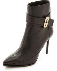 McQ by Alexander McQueen Lex Razor Ankle Strap Booties Black - Lyst