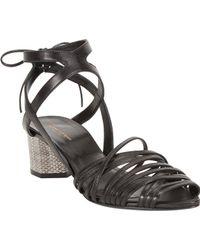 Narciso Rodriguez Python Midheel Sandal - Lyst