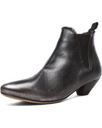 Marsell Slip On Ankle Leather Booties - Lyst