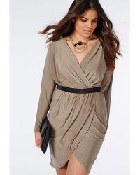 Missguided Plus Size Slinky Wrap Dress - Lyst