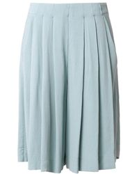 See By Chloé Pleated Crepe Culottes - Lyst