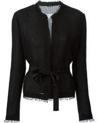 Maison Margiela Black Mesh Tweed Jacket - Lyst