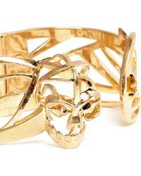 Alexander McQueen Deco Skull Bangle gold - Lyst