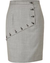 McQ by Alexander McQueen Button Embellished Skirt - Lyst