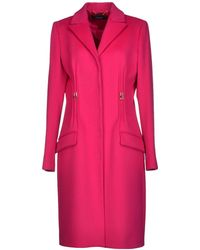 Versace Purple Coat - Lyst