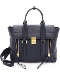 3.1 Phillip Lim Pashli Medium Satchel - Ink - Lyst