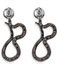Platadepalo - Animalia Silver Snake Earrings - Lyst