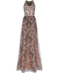 Matthew Williamson Floral Organza Gown - Lyst
